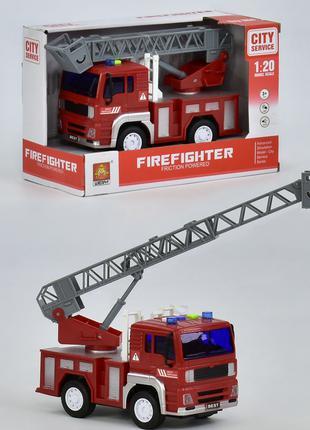 Пожарная машина WY-551 инерция, свет, звук, в коробке.