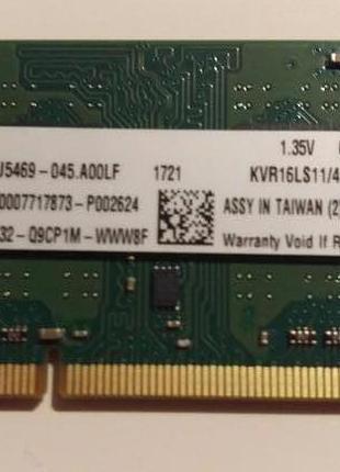 Память для ноутбука DDR3 4Gb Kingston PC3L-12800