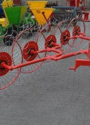 Грабли-ворошилки польские Agromech 4 5 колес