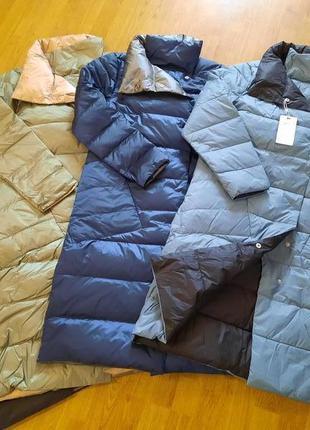 Дпустронняя куртка пальто пуховик