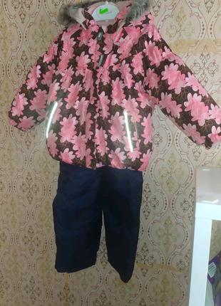 Продам зимнюю куртку lenne 92 р., +полукомбез и шапка 450 грн