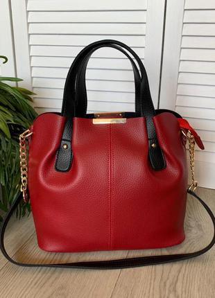 Стильная женская сумка, новая сумка из экокожи