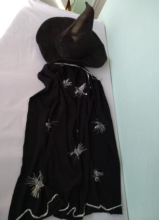 Карнавальный костюм колпак шляпа и накидка мантия волшебника, ...