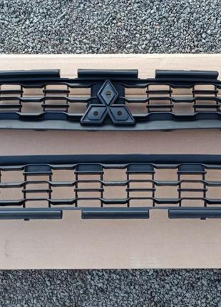 Решётка Хром молдинг Рамка Бампер Фары Mitsubishi ASX Outlande...