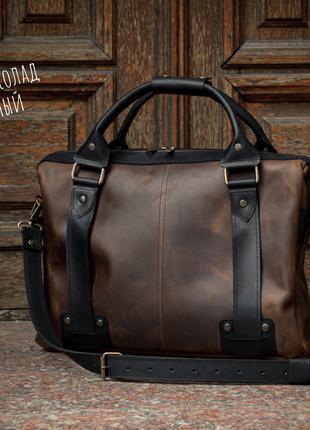 Повседневная мужска кожаная сумка.