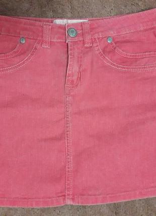 Летняя яркая джинсовая юбка