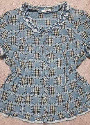 Легкая блуза из натуральной ткани