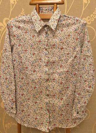 Нереально красивая и стильная брендовая рубашка в цветах.