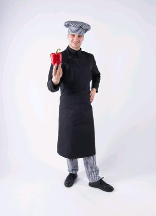 Фартук повара, официанта с нагрудником