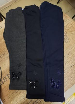 Лосины на меху taurus для девочек. размеры: 98, 104, 110, 116