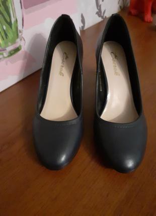 Туфли, темно-синие