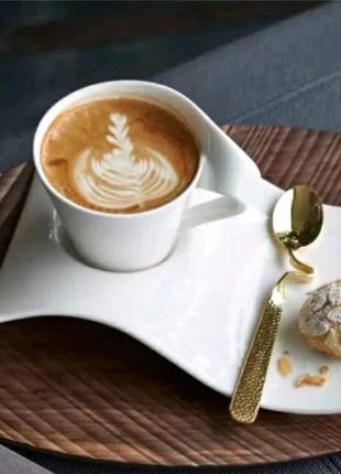 Кружка чашка с блюдцем для кофе чая