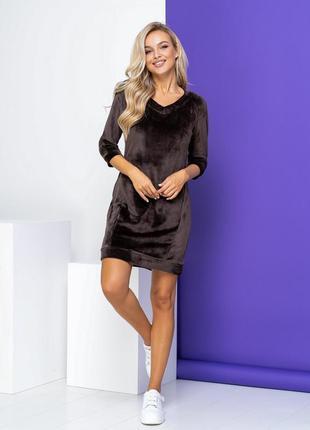 Платье домашняя одежда велюр мягкое одежда для дома