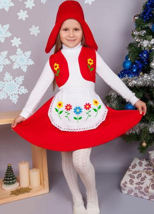 Красная шапочка - новогодний костюм на 3-5 лет