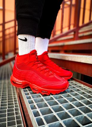 "Кроссовки Nike Air Max Sneakerboot 95 ""Red"""