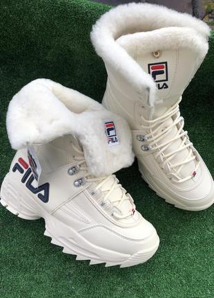 Зимние сапоги ботинки кроссовки fila disraptor оригинал