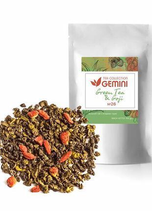 Чай зеленый рассыпной Gemini Tea Collection Goji с ягодами годжи