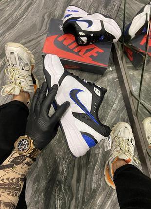 Nike air monarch white blue black