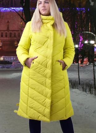 Зимняя женская куртка, длинная зимняя куртка большой размер...