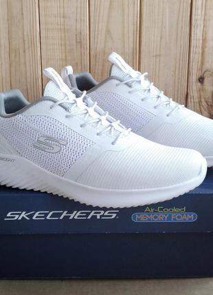 Стильные белые легкие кроссовки skechers air cooled memory foa...