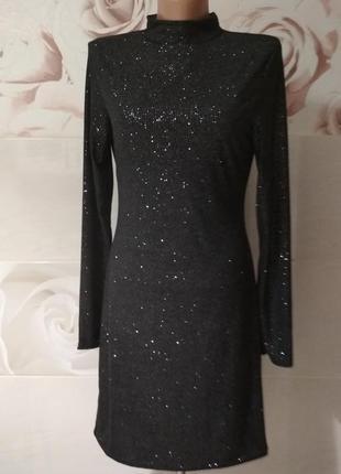 Блестящее платье edge street(английский бренд)новое с биркой