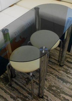 Кухонный стол ANF Стекло + Металл
