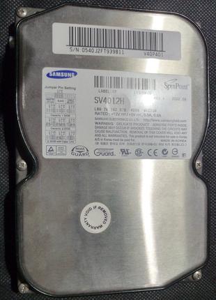Жесткий диск IDE Samsung SV4012H на 40Гб в отличном состоянии