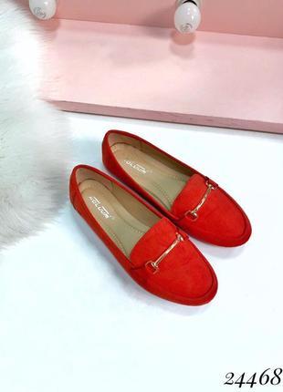 Красные замшевые туфли на низком ходу,красные замшевые лоферы,...