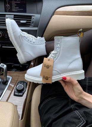 Dr martens classic fur, ботинки женские белые доктор мартинс з...