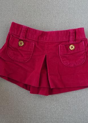Детская вельветовая юбка baby gap 12-18 мес