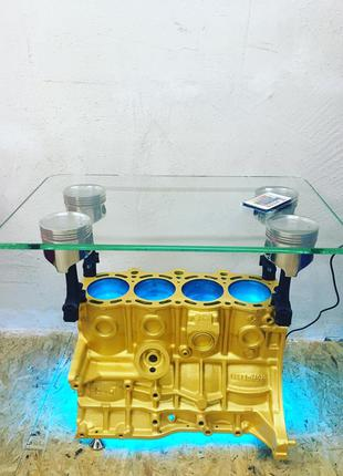 Стол из блоков цилиндров двигателя