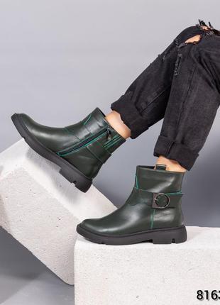 Кожаные женские зимние ботинки натуральная кожа