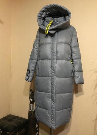 🔥классное🔥дутое зимнее длинное пальто пуховик зима