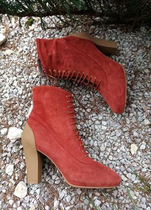 Стильние ботинки натуральная замша, geox, 38p