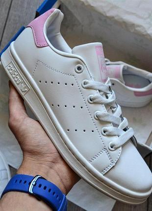 "Хайповые кроссовки 💪   adidas stan smith womens ""white&pink"" 💪"