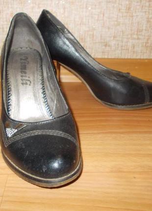 Туфли женские чено-коричневые 37 размер стелька 23 см