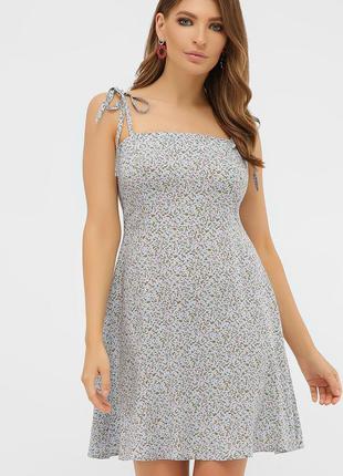 Летний голубой сарафан - платье