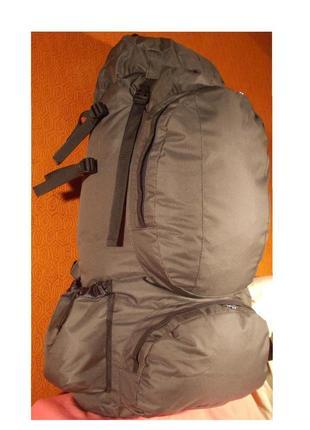 Рюкзак туристический козак 12231 серо-черный 100 литров