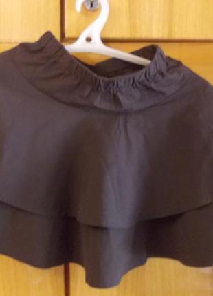 Юбка детская на 6-8 лет коричневая