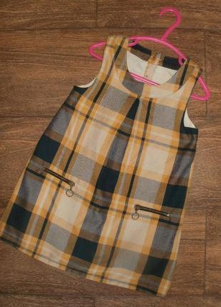 Стильное платье сарафан на 2-3 года