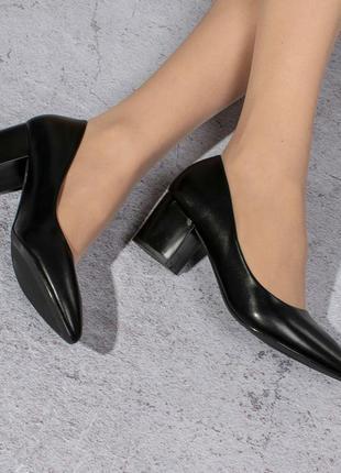 Классические туфли на среднем каблуке (328469)
