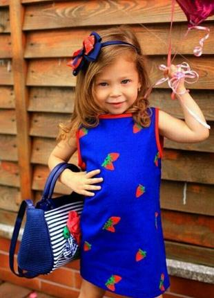 Детское льняное летнее платье с вышивкой