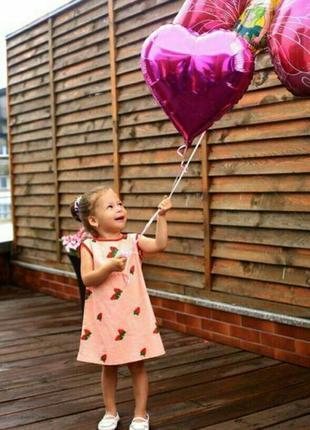 Льняное детское летнее платье с вышивкой