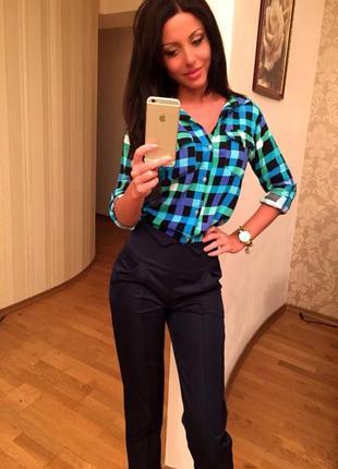 Классические женские брюки с завышенной талией