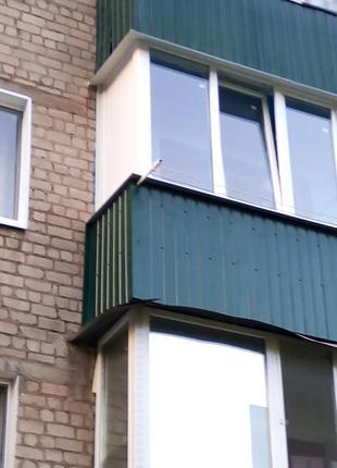 Французский балкон под ключ в рассрочку 0% на 3 месяца, обшивка