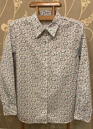 Нереально красивая и стильная брендовая рубашка в цветочек.