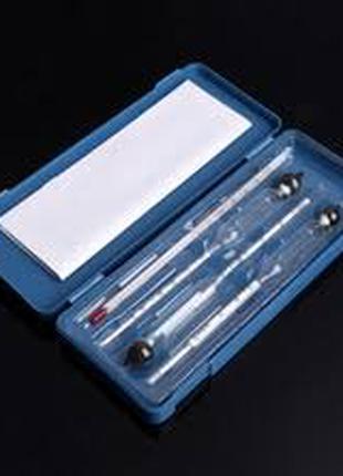 Спиртометр (ареометр) набор с термометром