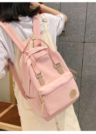 Городской рюкзак школьный розовый