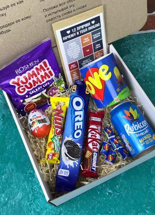 ОЧЕНЬ ЯРКО!!! Подарочный Набор Sweet Box Бокс для Женщины Мужчины