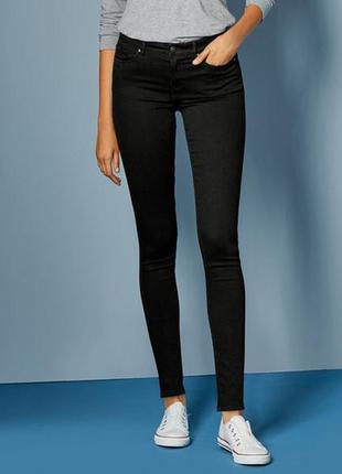 Черные джинсы зауженные super skinny, xs 34, xxl 44 euro, esma...